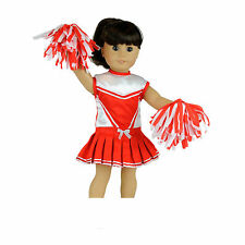 """MangoPeaches Cheerleader Outfit, 3 Pc set, Fits 18"""" American Girl Dolls"""