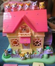 Hamtaro Ham-Ham House  13 Hamsters & Playset  w/ Accessories 2002 Hasbro