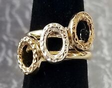 Set of 3 Stackable Rings by AVON ~ Size 6 ~ NEW NO Box ~ 2 Goldtone 1 Silvertone