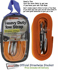 Tow Strap Quality Heavy Duty 2.5 Tonne Breakdown Recovery Towing Rope 3.5M Long