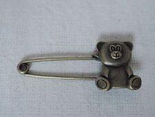 *NEW* vintage safety Teddy Bear pin brooch scarf shawl belt buckle