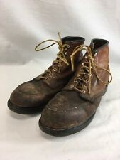 VTG Red Wing Shoes Work Boots Engineer Mens 10.5 B Brown Leather Steel Toe USA