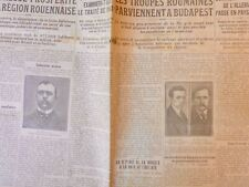 1919 HONGRIE BUDAPEST TROUPE ROUMAINE TRAITE PAIX SUFFRAGE UNIVERSEL