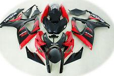 Aftermarket ABS fairings fit Suzuki gsxr600/750 06-07 2006 2007 red  black color