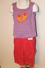 Gymboree Pretty Posies Girls Size 4T Flip Flop Shirt NWT Capri Pants NEW