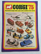 CORGI TOYS 1975 catalogo-SUPERBA Nuovo di zecca.