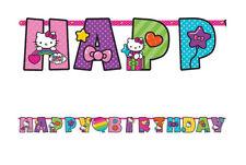HELLO KITTY RAINBOW Birthday Party jumbo LETTER BANNER add an age CUSTOMIZE