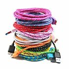 Braided Micro USB 3.0 Data Sync & Charger Cable For SAMSUNG GALAXY S5 NOTE 3