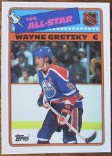 LOT OF 3 HI GRADE 1988-89 TOPPS HOCKEY A.S. Sticker Inserts WAYNE GRETZKY CARDS