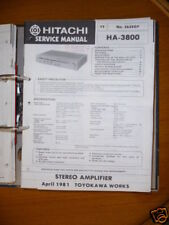 Manuel de service pour HITACHI HA-3800 AMPLIFICATEUR, original