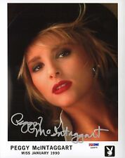 Peggy McIntaggart Signed Playboy 8x10 Photo PSA/DNA COA Playmate Headshot 1 1990
