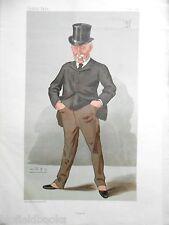 Original Vanity Fair Print of Sir J W Pease Bt MP, 1888 (Includes Magazine)