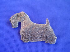 Sealyham Terrier pin STANDING #95A Pewter Dog jewelry by Cindy A. Conter