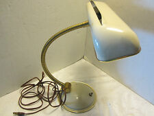 "Mid Century Table Lamp goose neck Cannon Produc 1950's Desk Atomic 16""H Vintage"