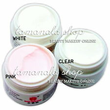 3 IN 1 Professional Nail Salon Acrylic Powder With Clear  Pink & White Color Kit