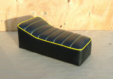 "14"" x 7"" BLACK/YELLOW MINIBIKE SEAT BOBBER SCOOTER MINI BIKE GRAND PRIX HEATHKIT"