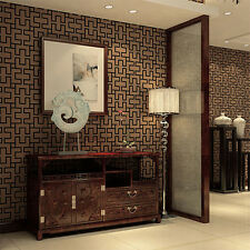 Coffee Chinese classical lattice FEATURE Wallpaper mural Wall Decor