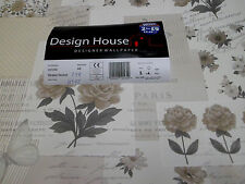 4 Rollen Design House Paris Kupfertiefdrucktapete Design  0,45€/Meter   291056