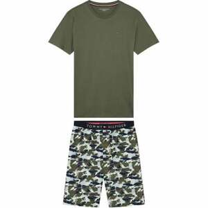 Tommy Hilfiger Cotton Pyjama Set, Grapeleaf/Khaki