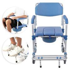 Shower Commode Wheelchair Toilet Chair Senior  Bathroom Safe Chair Adult