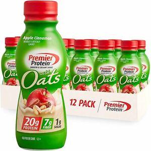 Premier Protein Shake with Oats, Apple Cinnamon, 20g Protein, 7g Fiber, 1g Sugar