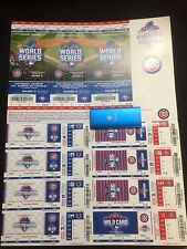Chicago Cubs 2015 Playoff Strip Postseason NLCS NLDS World Series Stubs Tickets