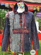 NEW HIPPIE UNISEX SHIRT HOODIE FESTIVAL CLOTHING UK SIZE 14 MENS MEDIUM MED