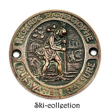Plate Of Vehicle Old, St.Christopher Patron of The Voyageurs. France.