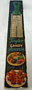 VTG Taylor Candy Thermometer #5908 With Original Box and Brochure Stainless
