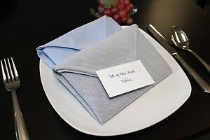 "1 Dozen Milliken Signature Chambray Dinner Napkins - Black or Grey - 20"" x 20"""