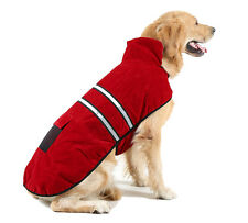 Soft Fleece Dog Pet Puppy Blanket Coat Sweater Reflective Stripe Blue or Red