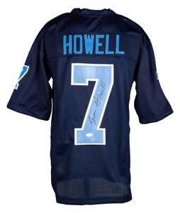 Sam Howell Signed Custom Carolina Navy Football Jersey JSA