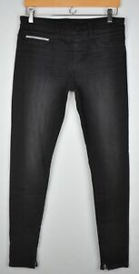 Rockstar Women's 27 X 31 1/4 Stretch Black Jeans Sushi Pull-On Zip Ankles Sample