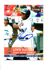 Lewin Diaz 2017 Midwest League All Star auto signed card Cedar Rapids