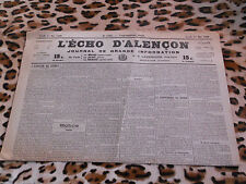 Journal - L'Echo d'Alençon n° 1449, 11/05/1922