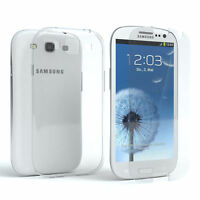 Schutz Hülle + Panzerglas f. Samsung Galaxy S3 / Neo Handy Case Cover Silikon