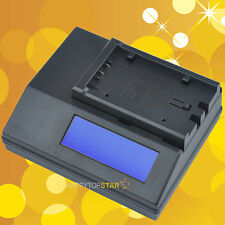 Digital LCD Fast Quick Charger for PANASONIC VW-VBG6 VW-VBG260 VW-VBG130 Battery
