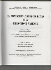 Manuscrits Classiques Latins De La Bibliothèque Vaticane  T°2 /1, Pellegrin CNRS