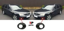 FOR FORD MONDEO MK3 2000-2003 NEW FRONT BUMPER FOGLIGHT GRILL BLACK PAIR SET