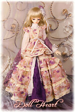 BJD 1/3 SD13 Dollheart Wine Melody Dress Outfit
