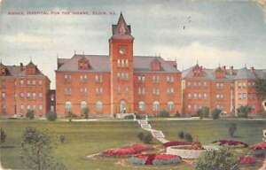 Elgin Illinois Hospital for the Insane Vintage Postcard AA43476