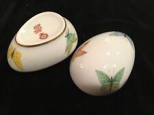 Vintage Limoge Porcelain Butterfly Egg Trinket Box