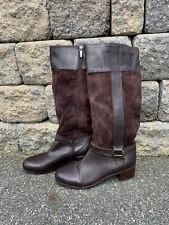 Bandolino Women's Brown Leather Riding Boots Size 8