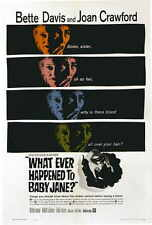 WHATEVER HAPPENED TO BABY JANE? Movie POSTER 27x40 D Bette Davis Joan Crawford