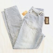DULUTH TRADING CO. Womens Railroad Engineer Stripe Jeans Blue and White