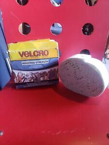"Velcro Brand Industrial Strength Tape White 15' x 2"" Heavy Duty Self Adhesive"