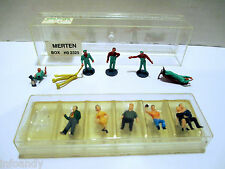 Vintage Merten HO 2325 Railroad Workers Made in West Berlin + Bonus 5 Passengers