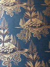 5 rolls of Zoffany 'Fir Trees' wallpaper ZFLW02005 (Prussian Blue/Gold)