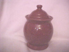 New listing Dark cranberry apothocary type covered pot 7 1/2 Inches With Lid 425