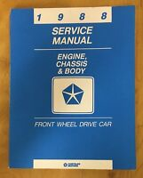 1988 Service Manual Engine, Chassis & Body Front Wheel Drive Car - Chrysler Corp